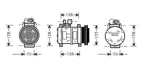 Denso Ac  pressor on valeo alternator wiring diagram