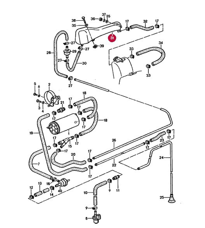 Fuel Vapor Vent Valve on 2001 chrysler pt cruiser engine diagram