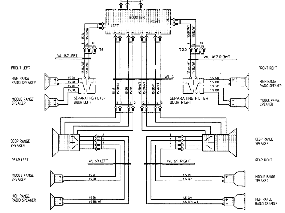 4 channel amp 6 speaker wiring diagram   38 wiring diagram images